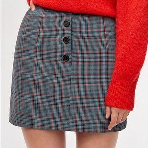 Little moon plaid mini skirt